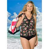 Plus Size Ruched One-Piece One-Piece Swimsuits & Monokinis - Pink/black/red/green/white