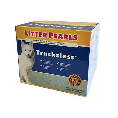 Litter Pearls Tracksless Unscented Non-Clumping Crystal Cat Litter, 20-lb box
