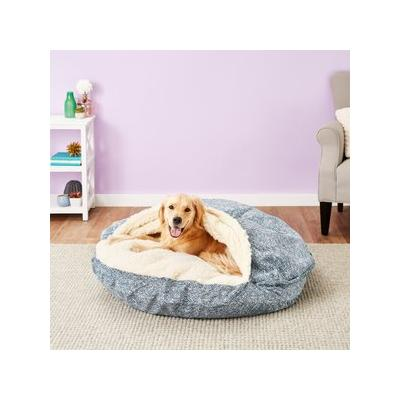 Snoozer Pet Products Microsuede Cozy Cave Dog & Cat Bed, Palmer Indigo, X-Large