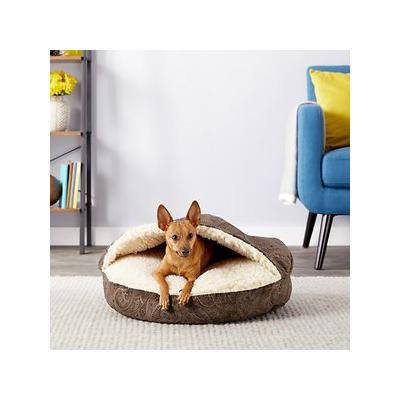 Snoozer Pet Products Microsuede Cozy Cave Dog & Cat Bed, Laurel Mocha, Small