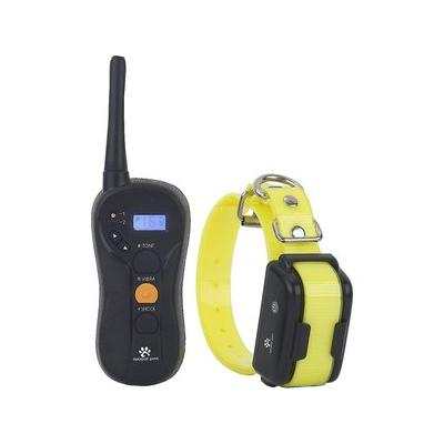Hot Spot Pets Waterproof Shock,Vibration & Tone Long Range Dog Training Collar with LCD Remote, Yellow