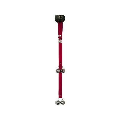 PoochieBells The Original Dog Training Potty Doorbell, Cherry Red