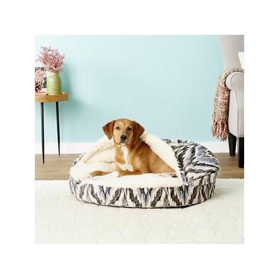 Snoozer Pet Products Orthopedic Microsuede Cozy Cave Dog & Cat Bed, Tempest Indigo, Large
