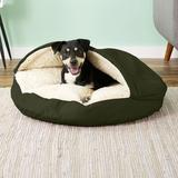Snoozer Pet Products Cozy Cave Covered Cat & Dog Bed w/Removable Cover, Olive, Large