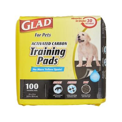 """Glad For Pets Activated Carbon Dog Training Pads, 23"""" x 23"""", 100 count"""