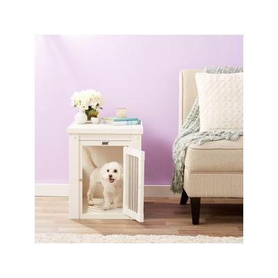 New Age Pet ecoFLEX Crate & End Table, Antique White, Small
