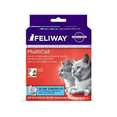 Feliway MultiCat 30 Day Starter Kit Plug-In Diffuser & Refill, 48-mL