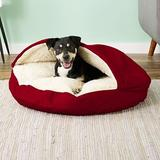 Snoozer Pet Products Cozy Cave Covered Cat & Dog Bed w/Removable Cover, Red, Large