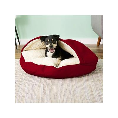 Snoozer Pet Products Cozy Cave Dog & Cat Bed, Red, Large