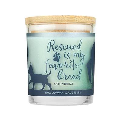 Pet House Ocean Breeze Natural Soy Sentiment Candle, 8.5-oz jar