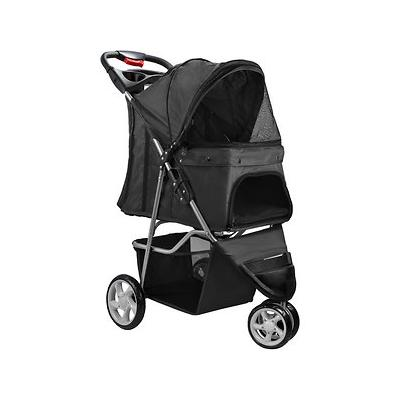 Paws & Pals Jogger Folding Dog & Cat Stroller, Black