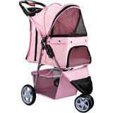 Paws & Pals - Paws & Pals Jogger Folding Dog & Cat Stroller, Pink