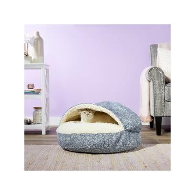 Snoozer Pet Products Microsuede Cozy Cave Dog & Cat Bed, Palmer Indigo, Small
