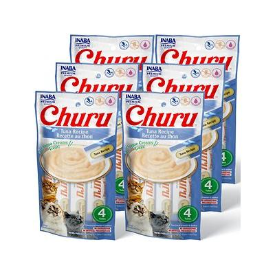 Inaba Churu Grain-Free Tuna Puree Lickable Cat Treat, 0.5-oz tube, pack of 24