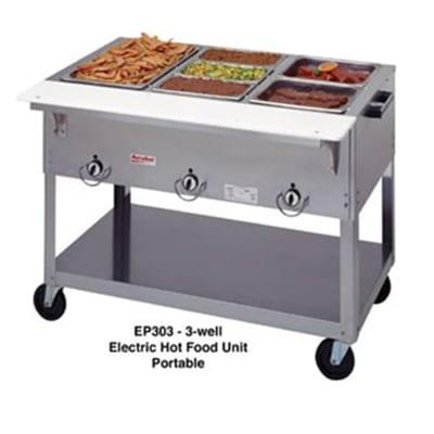 Duke EP302SW Portable Steamtable w/ 2 Sealed Hot Wells & Carving Board, 120 V on Sale