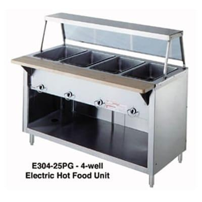 Duke 303-25SS 46 Hot Food Unit w/ 3 Dry Heat Wells, Stainless Top, Body & Shelf, LP on Sale