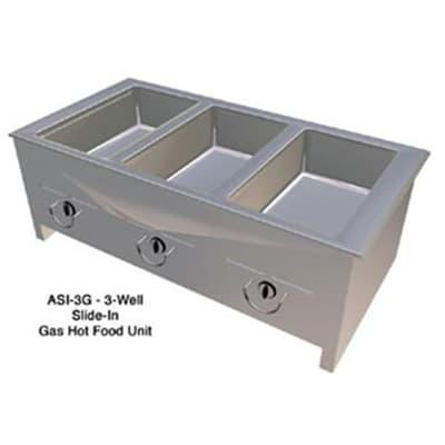 Duke ASI-2G 32.25 Hot Food Slide In Unit w/ (2) 12x20 Well, Stainless Top, LP on Sale