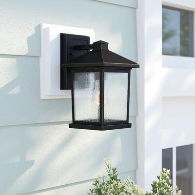 Sol 72 Outdoor Sol 72 Outdoor Lovette Coastal 1 Bulb Outdoor Wall Lantern Glass Metal In Bronze Oil Rubbed Bronze Size 10 25 H X 6 W X 7 13 D Wayfair Dailymail