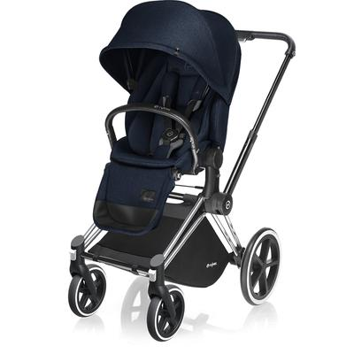 Cybex 2017 / 2018 Priam Lux Trekking Stroller  Chrome / Midnight Blue