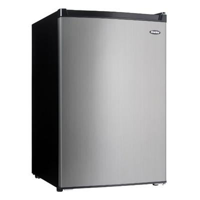 Danby DCR045B1BSLDB-3 4.5 cu ft Compact Refrigerator & Freezer w/ Solid Door - Black/Stainless, 115v on Sale