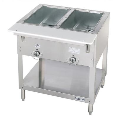 Duke E302 Aerohot Steamtable Hot Food Unit, 2 Wells & Carving Board, 120 V on Sale