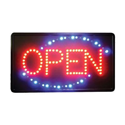 Winco LED-6 Open Sign - LED, Single Flashing Pattern on Sale