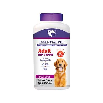 21st Century Essential Pet Adult Hip & Joint Savory Flavor Chewable Supplement for Dogs, 120 count