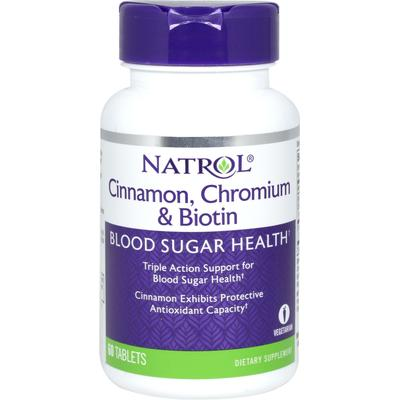 Natrol Super Cinnamon Complex with Chromium & Biotin-60 Tablets