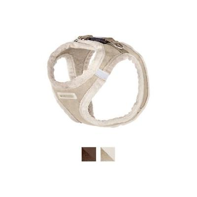 Best Pet Supplies Voyager Plush Suede Dog Harness, Latte, Small