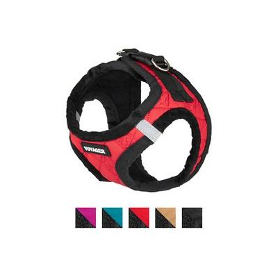 Best Pet Supplies Voyager Padded Fleece Dog Harness, Red, X-Small