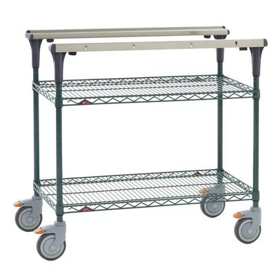 Metro MS1824-NKNK 2 Level Mobile PrepMate MultiStation w/ Wire Shelving - 26L x 19.4W x 39.13H on Sale