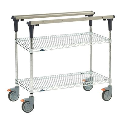 Metro MS1848-BRBR 2 Level Mobile PrepMate MultiStation w/ Wire Shelving - 50L x 19.4W x 39.13H on Sale