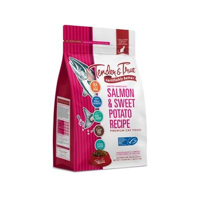 Tender & True Salmon & Sweet Potato Recipe Grain-Free Dry Cat Food, 7-lb bag