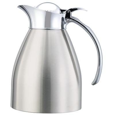 Service Ideas 982C06BS .6 liter Carafe w/ Vacuum Insulation, Brushed Stainless Finish on Sale