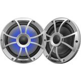 Wet Sounds RECON 8 S-RGB 8 Speakers, Silver Open Grille, RGB