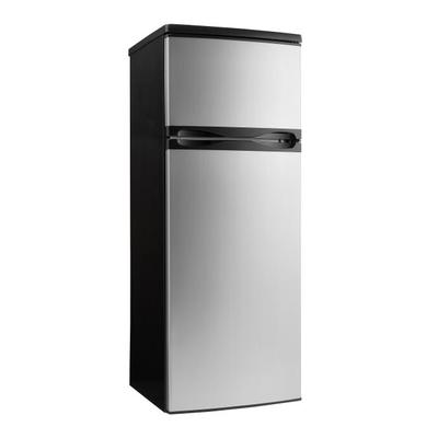 Danby DPF073C2BSLDB 7.3 cu ft Compact Refrigerator w/ Solid Door - Black/Stainless, 115v