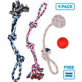Pacific Pups Rescue Assorted Rope Dog Toys, 4 count