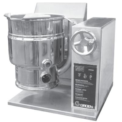Groen TDHC-48C 12 gal. Steam Kettle - Manual Tilt, 2/3 Jacket, LP on Sale
