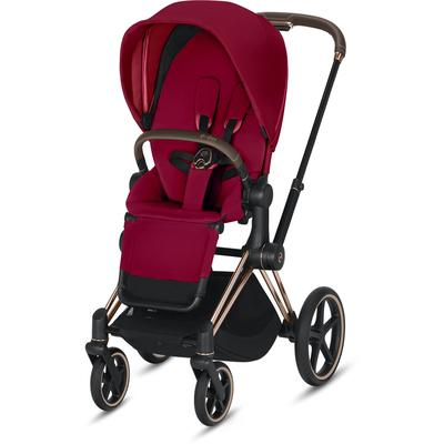 Cybex Priam 3 Complete Stroller - Rose Gold/True Red